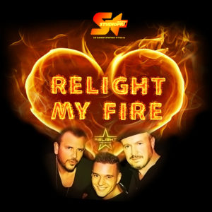 RELIGHT MY FIRE LOGO CON FOTO SOTTO